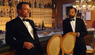Daniel Craig and Jeffrey Wright hang out at the bar in Casino Royale.