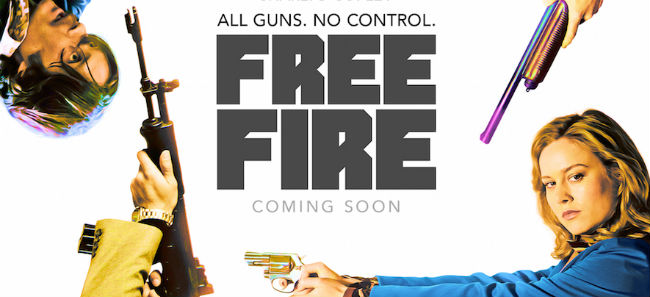 Free Fire Poster Brie Larson