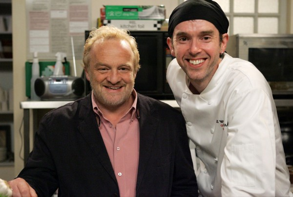 Marlon Dingle with celebrity chef Antony Worrall Thompson (ITV/PA)