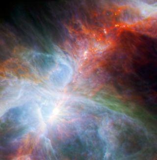 orion nebula herschel spitzer