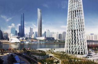 CTF Guangzhou skyscraper, fastest elevator