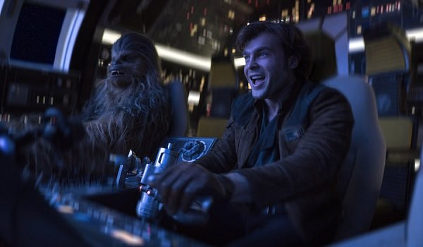 Solo: A Star Wars Story Alden Ehrenreich Chewie and Han pilot The Falcon