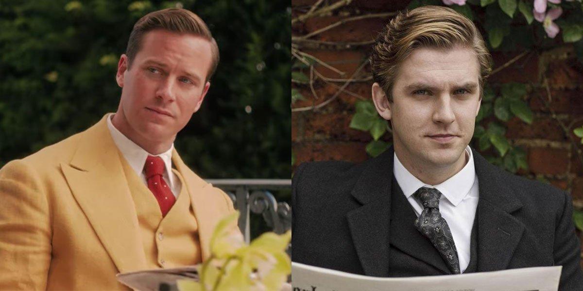 Dan Stevens Downton Abbey, Armie Hammer in Netflix's Rebecca newspaper