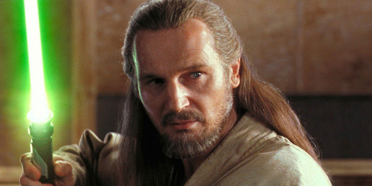 Liam Neeson as Qui-Gon Jinn in Star Wars: The Phantom Menace