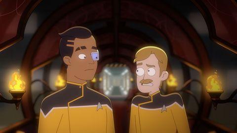Rutherford and Billups in 'Star Trek: Lower Decks'.