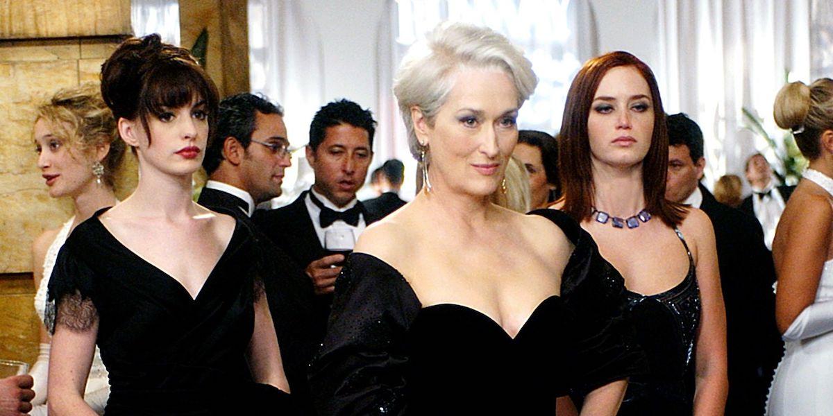 Anne Hathaway, Meryl Streep, Emily Blunt in Devil Wears Prada