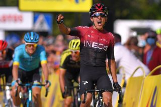 Richard Carapaz (Team Ineos) wins stage 3 of the 2020 Tour de Pologne. He'll now ride the Tour de France, having originally been picked by Ineos to lead at the Giro d'Italia