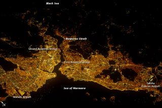 Istanbul seen at night