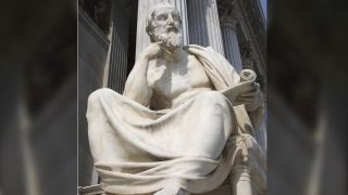 Statue of the Greek philosopher Herodotus