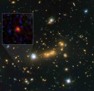 The farthest known galaxy MACS0647-JD is 13.3 billion light-years from Earth and was born 420 million years after the Big Bang.