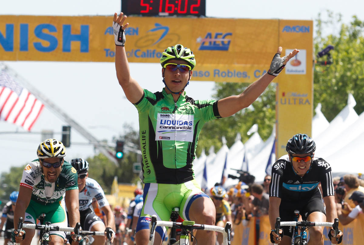 Peter Sagan wins stage, Tour of California 2011, stage five