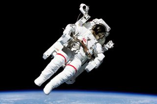 Bruce McCandless tested the Manned Maneuvering Unit (MMU) on the first tetherless spacewalk in February 1984.