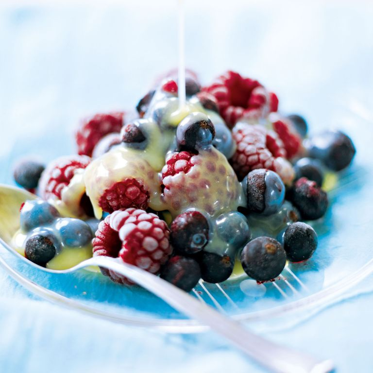 Iced Berries with Hot White Chocolate Sauce recipe-recipe ideas-new recipes-woman and home