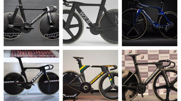 Olympic track bikes composite