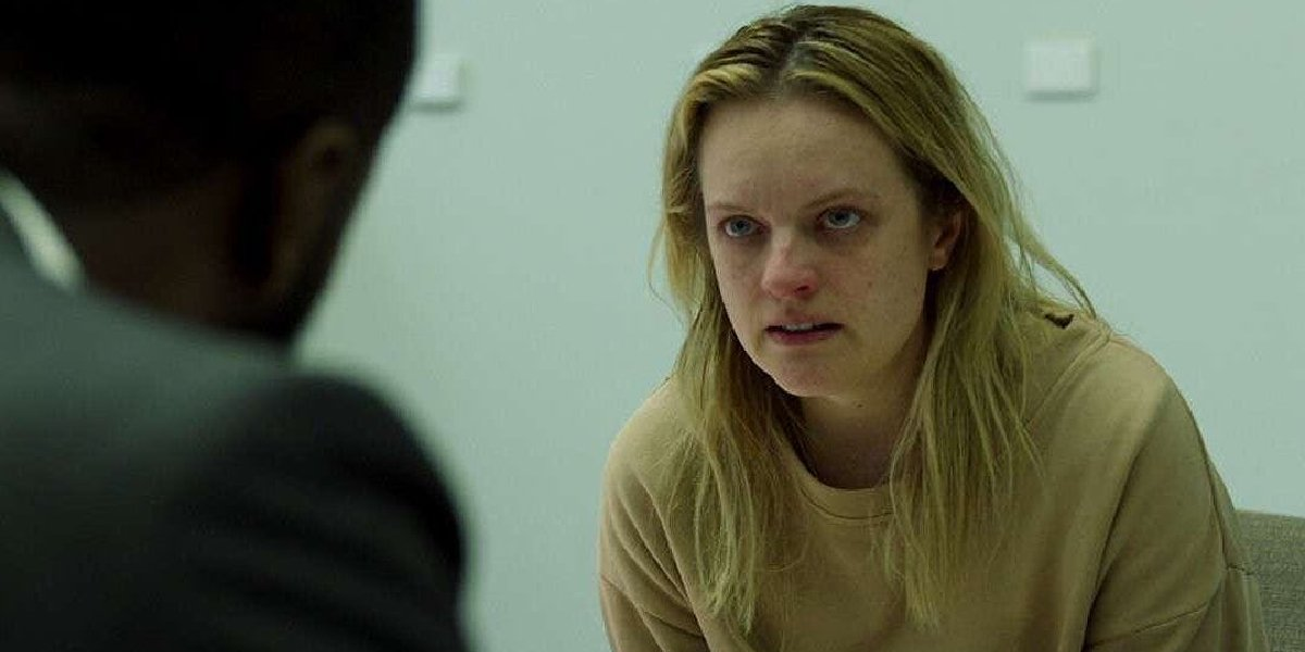 The Invisible Man Elizabeth Moss in the interrogation room