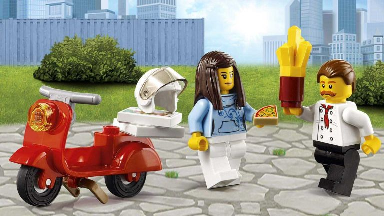 LEGO sale: 60150 City Great Vehicles Pizza Van and Scooter Building Set with Chef and Pizza Chunks, Summer Holidays Toys for Kids