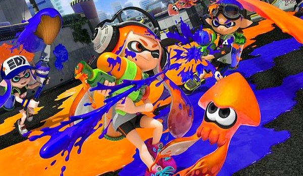 Squid kids do battle in splatoon