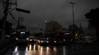Day became night on the afternoon of Monday (Aug. 19) in São Paulo, Brazil.