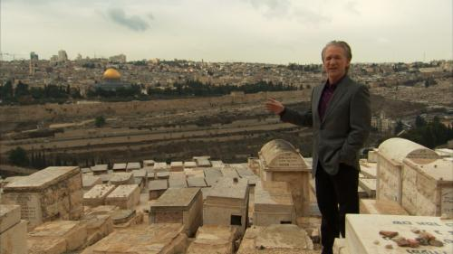 Religulous - Bill Maher surveys Megiddo, the hill in Israel where, according to the New Testament, Armageddon will take place