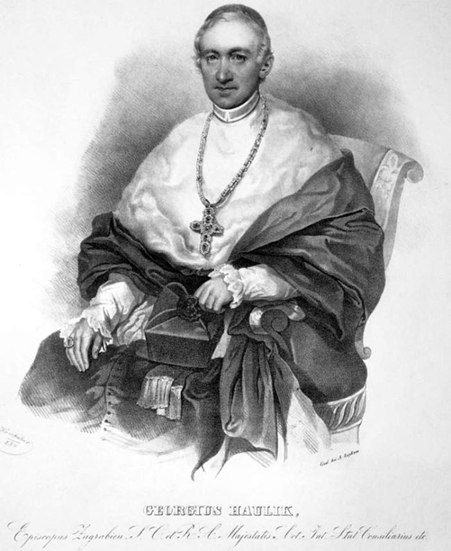 lithograph of archbishop Juraj
