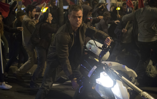 Jason Bourne Matt Damon motorbike