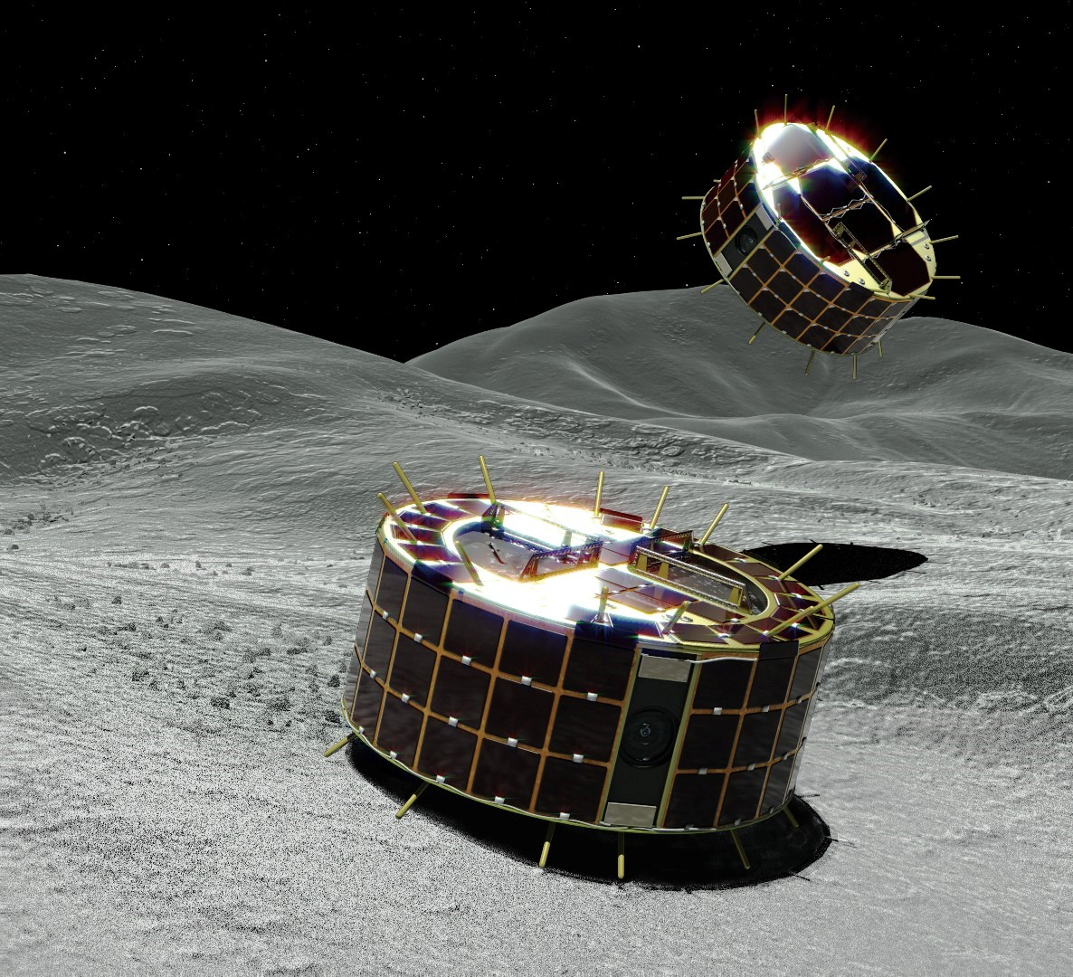 Hop, Don't Roll: How the Tiny Japanese Rovers on Asteroid