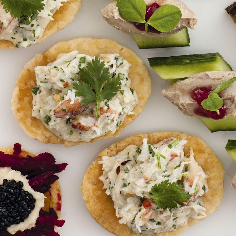 Mini crab tartlets