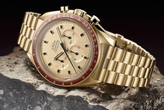 Omega's Speedmaster Apollo 11 50th Anniversary Limited Edition celebrates the chronograph's history as the first watch worn on the moon.