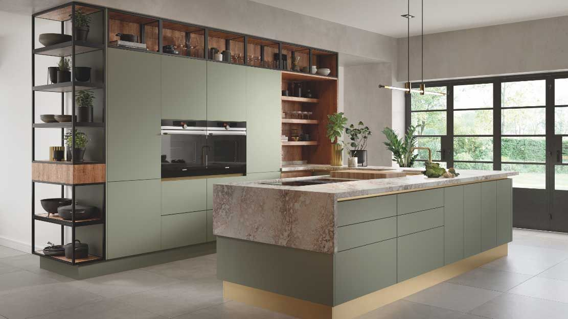Sage green kitchens are TRENDING and we can see why...