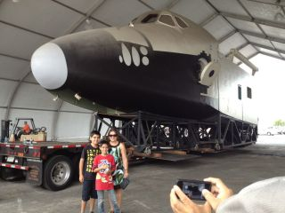 Full-Size Shuttle Mockup on Display in California