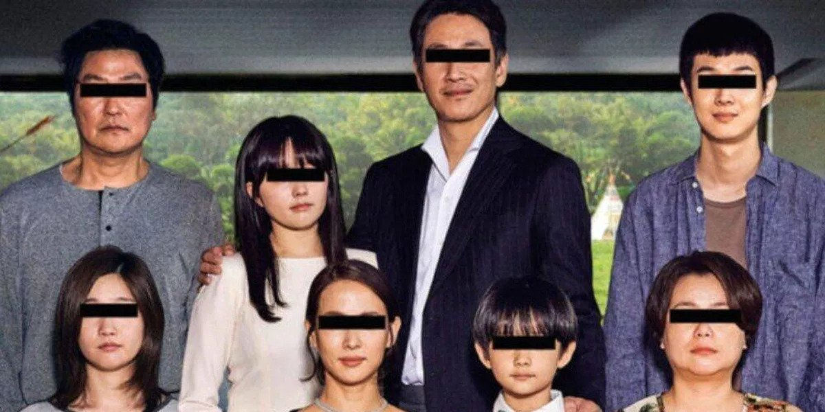 Parasite The Parks and The Kims censored with black bars