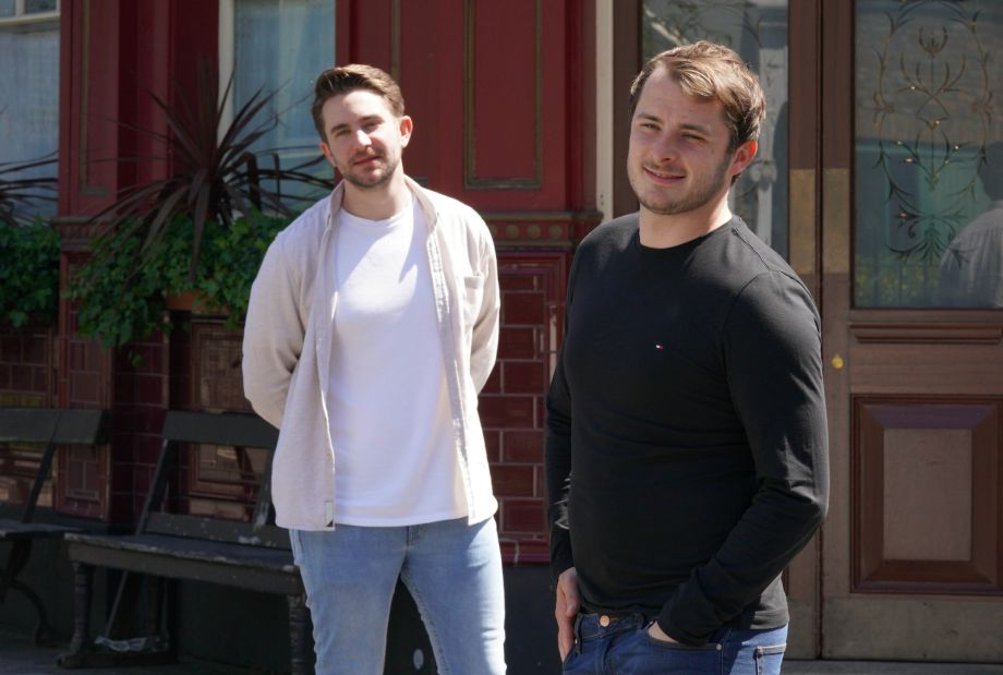 Ben Mitchell (Max Bowden) and Callum Highway (Tony Clay)