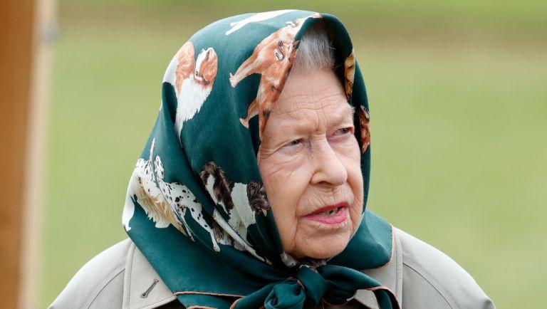 Queen Elizabeth II attends day 4 of the Royal Windsor Horse Show in Home Park, Windsor Castle on July 4, 2021 in Windsor, England.
