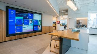 Last year, global technology services company NTT opened a new intelligent workplace in New York that prominently features a 12-foot-long, 7-foot-high Planar Clarity Matrix Video Wall System.