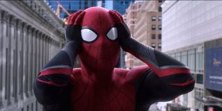 Spider-Man as his identity is being revealed