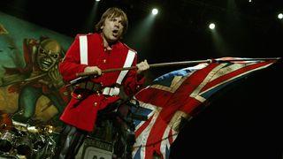 Bruce Dickinson of Iron Maiden on stage