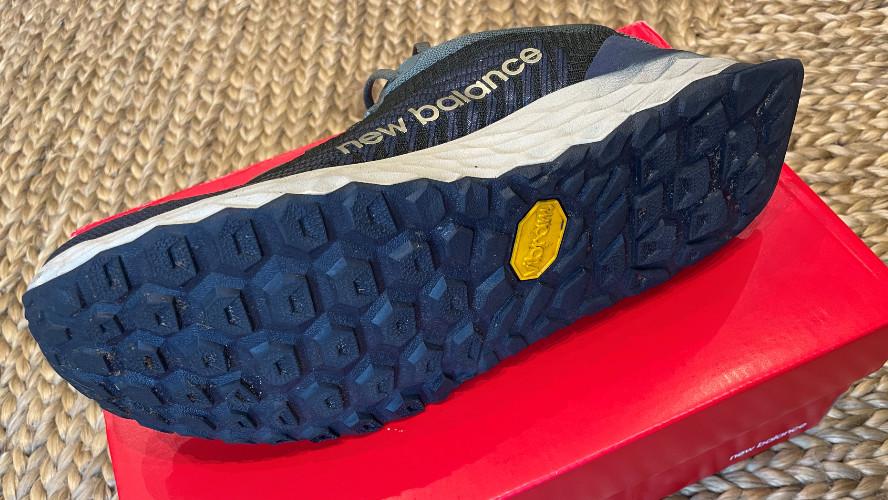 Close-up of the sole of a single New Balance Fresh Foam Hierro v6 shoe