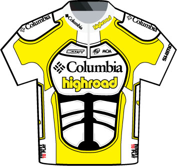 Columbia Highroad Tour de France 2009 team jersey