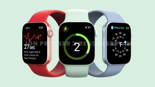 Renders of Apple Watch 7 prepared based on alleged leaked photos of the device