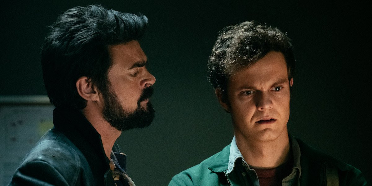 Karl Urban and Jack Quaid in The Boys