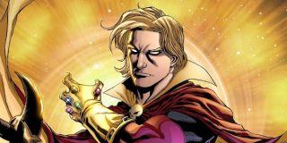 Adam Warlock with the Infinity Gauntlet
