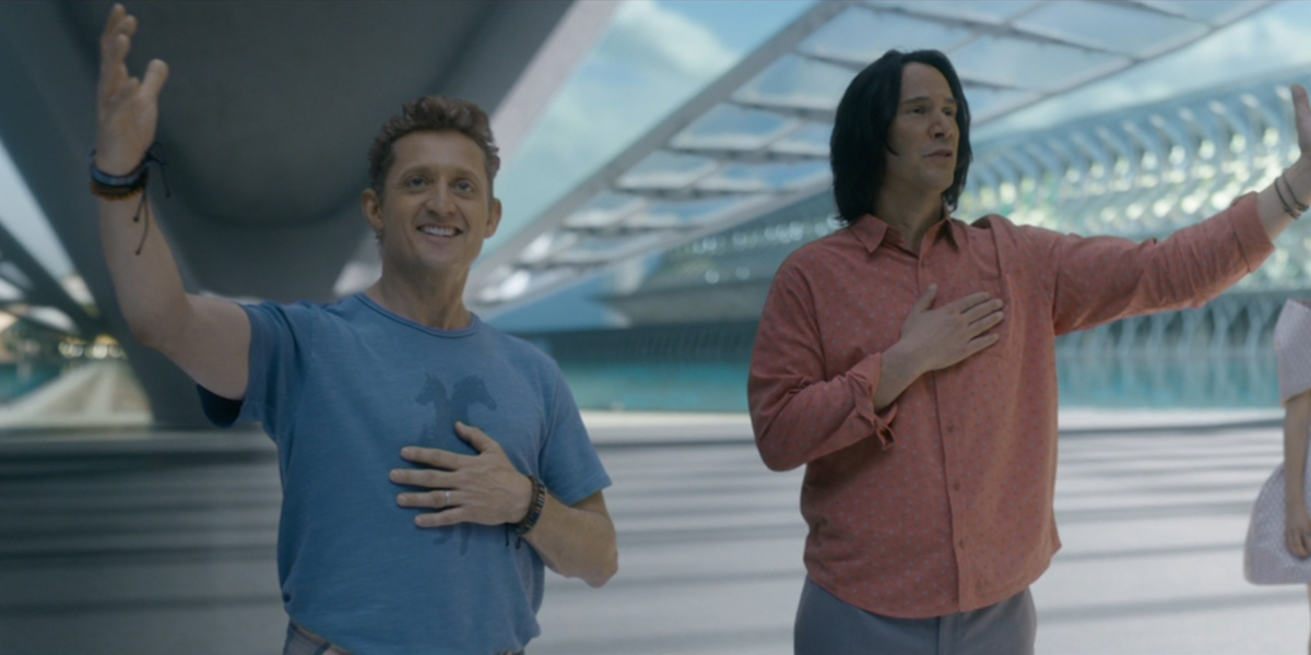 Bill and Ted Face The Music Bill and Ted Salute