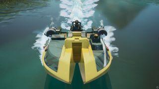fortnite flaming rings motorboat