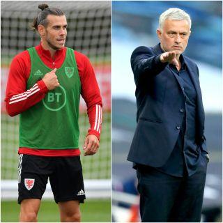 Gareth Bale and Jose Mourinho