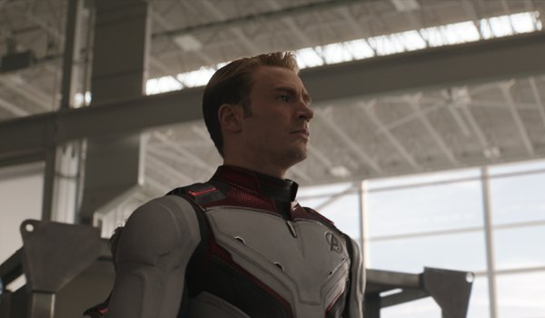 Captain America in his Quantum Realm suit in Avengers Endgame