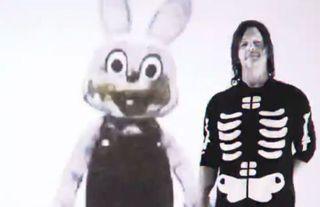 Norman Reedus with Robbie the Rabbit