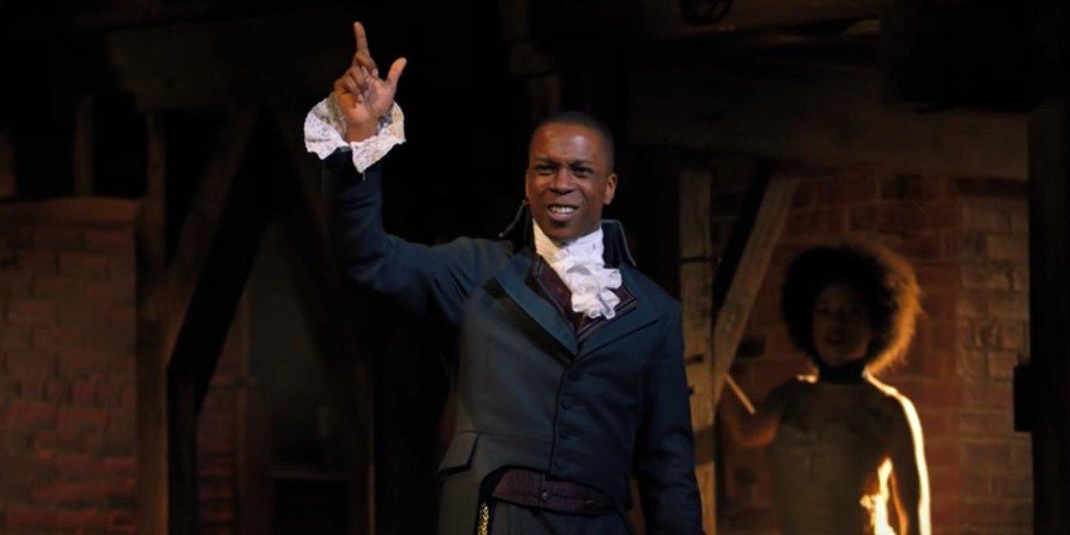 Aaron Burr in a scene from 'Hamilton'
