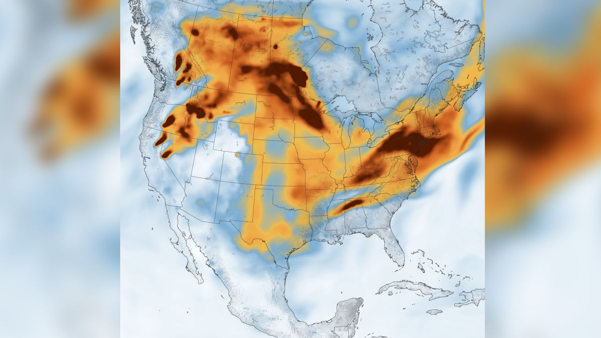 Wildfire smoke spreads across US in striking images from space