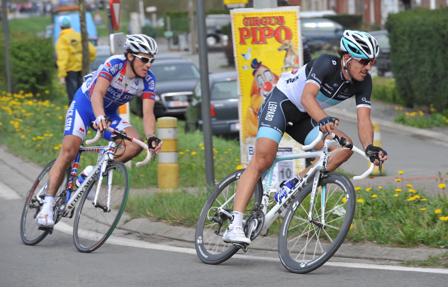 Cancellara and Chavanel, Tour of Flanders 2011