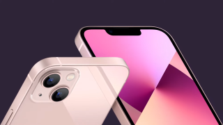 iPhone 13 angled photo front and back